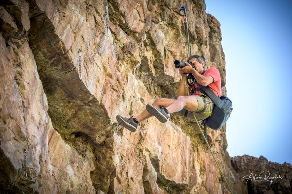 Climbing photography