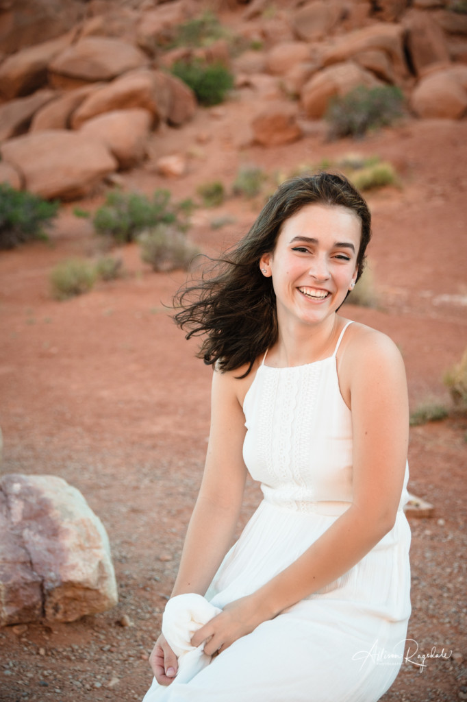 arches moab senior girl portrait