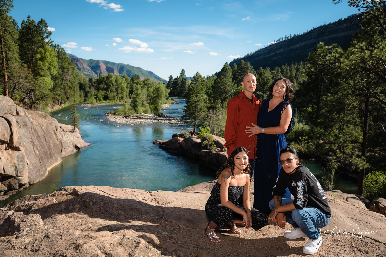 family picture bakers bridge animas river