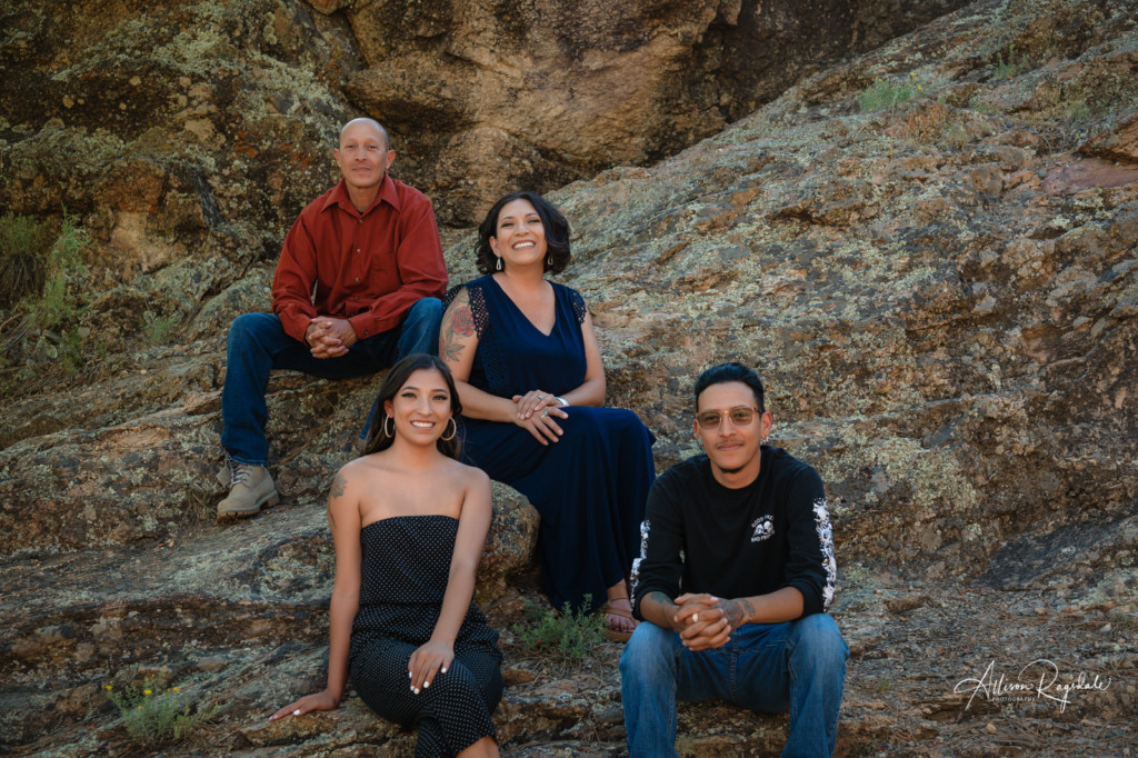 family photo on the rocks durango co