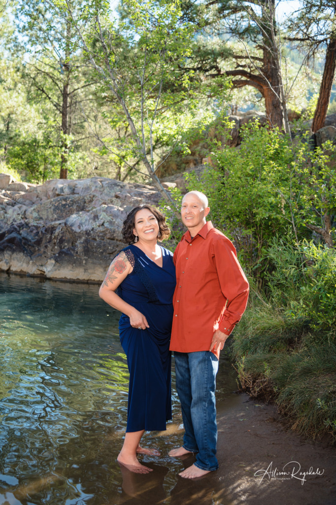 mom and dad photo durango river