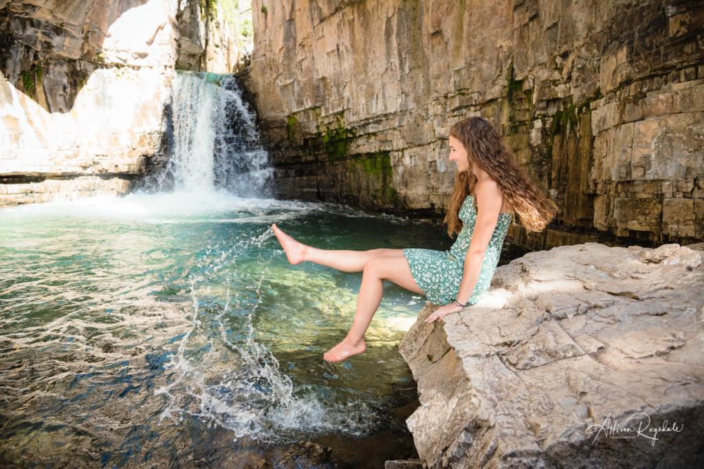 Waterfall senior pics