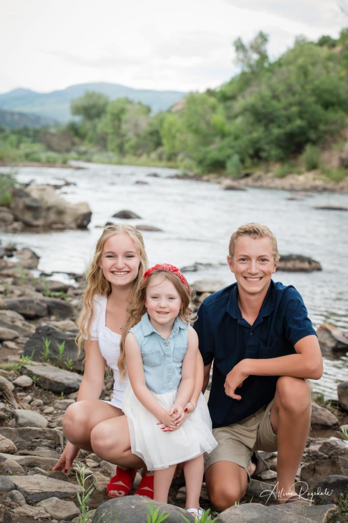 grandkids portrait by river