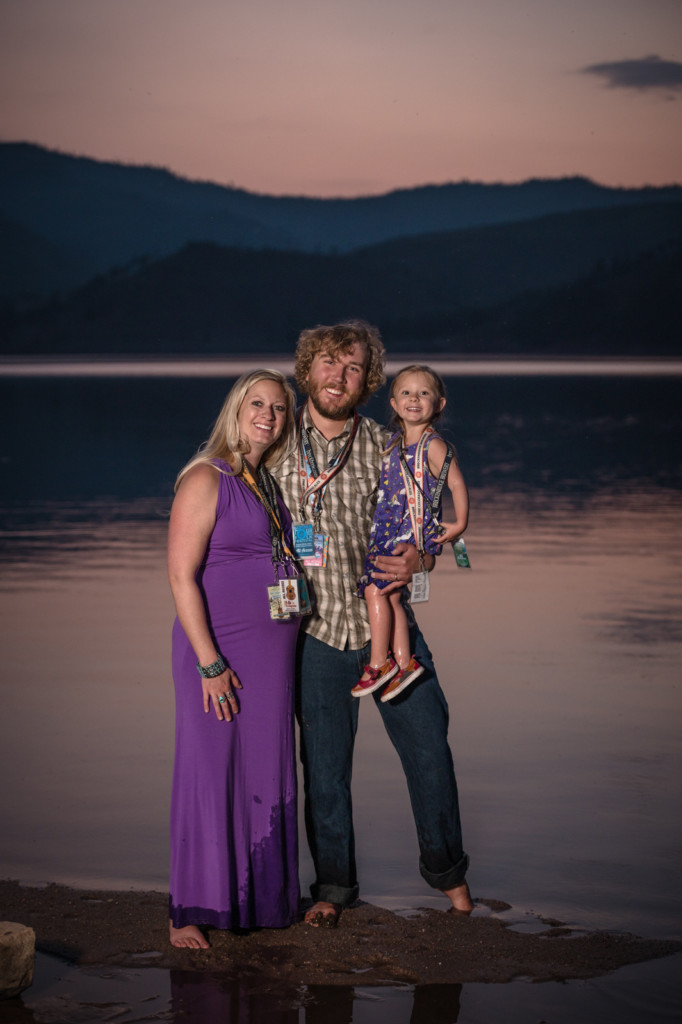 family photos during sunset by Allison Ragsdale