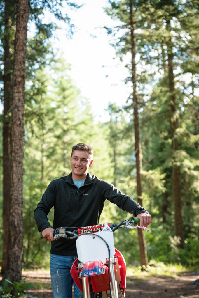 senior guy dirt bike photo