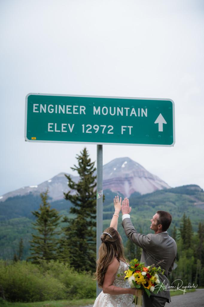 engineer mountain wedding ring portrait colorado