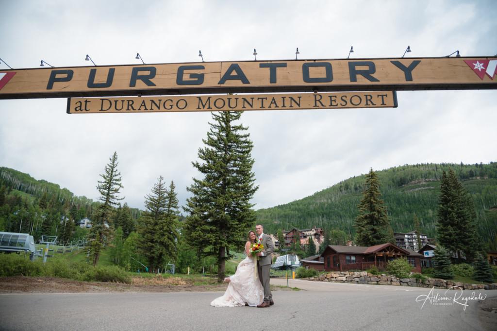 purgatory mountain resort wedding portrait