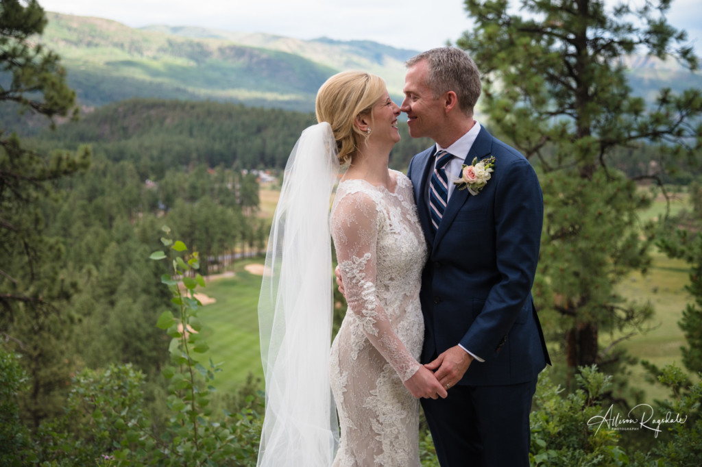 colorado bride and groom portrait glacier club wedding