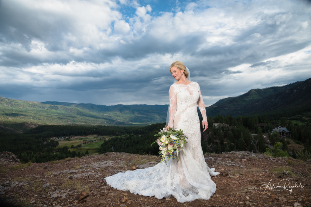 bridal portrait colorado dramatic