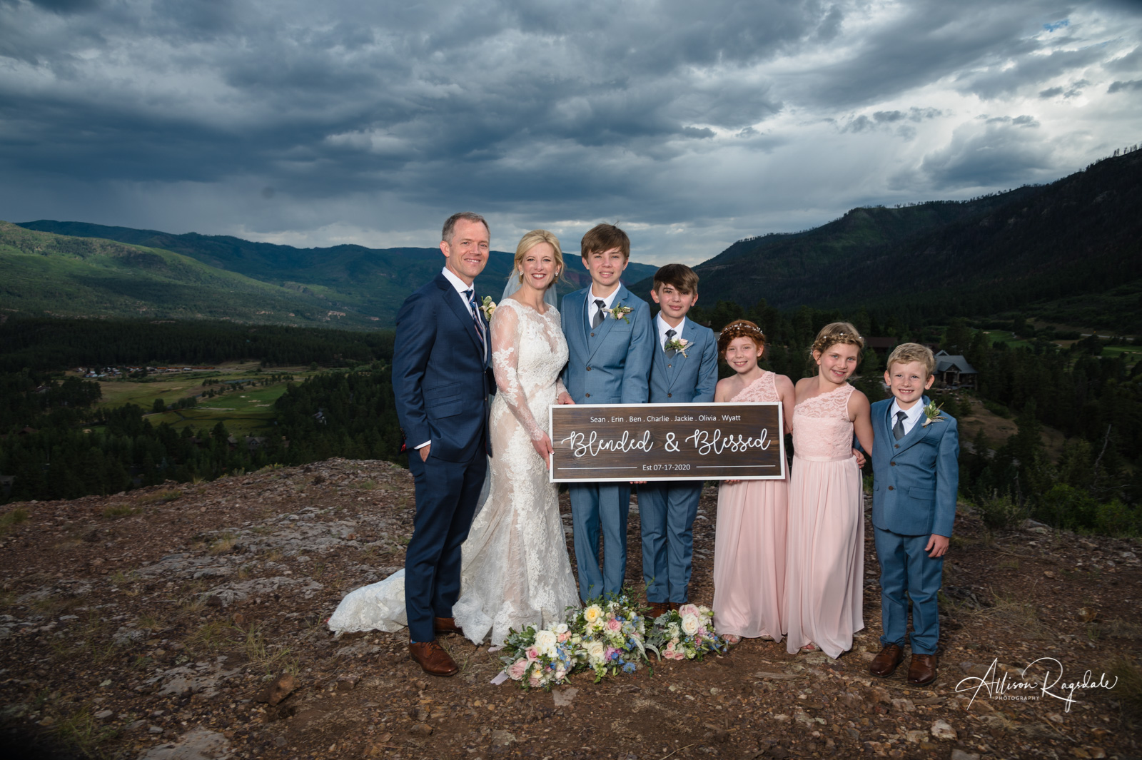 blended family wedding portrait colorado