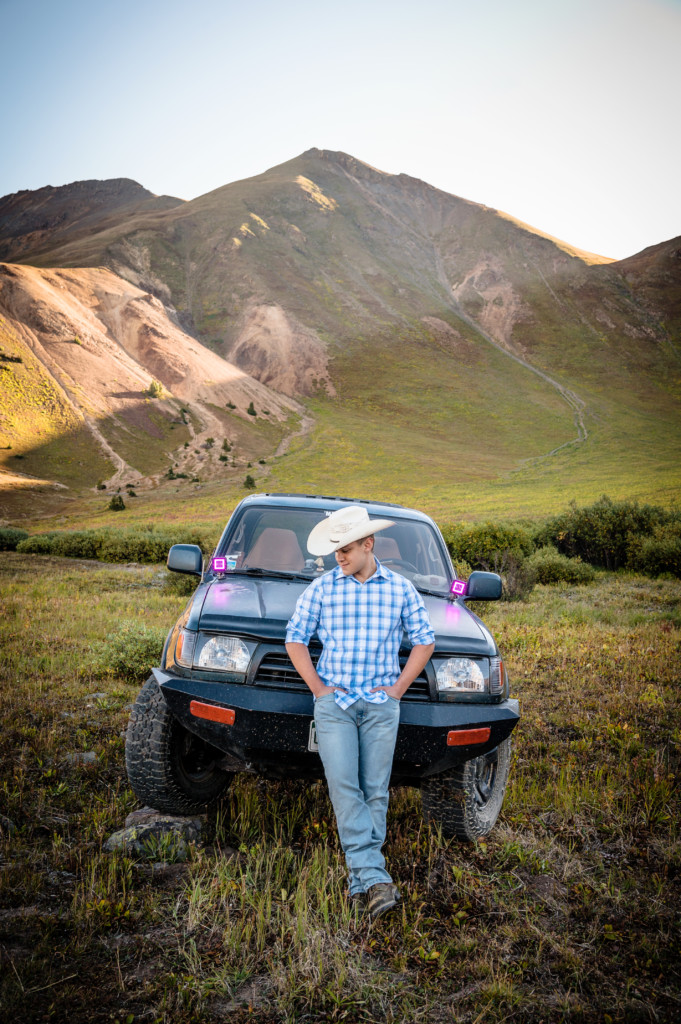 4 wheel drive silverton mountains senior guy picture