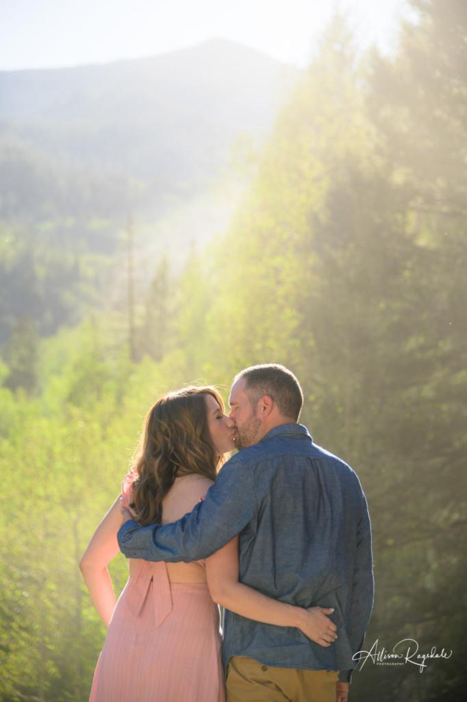 late summer colorado engagement couple portrait mountains