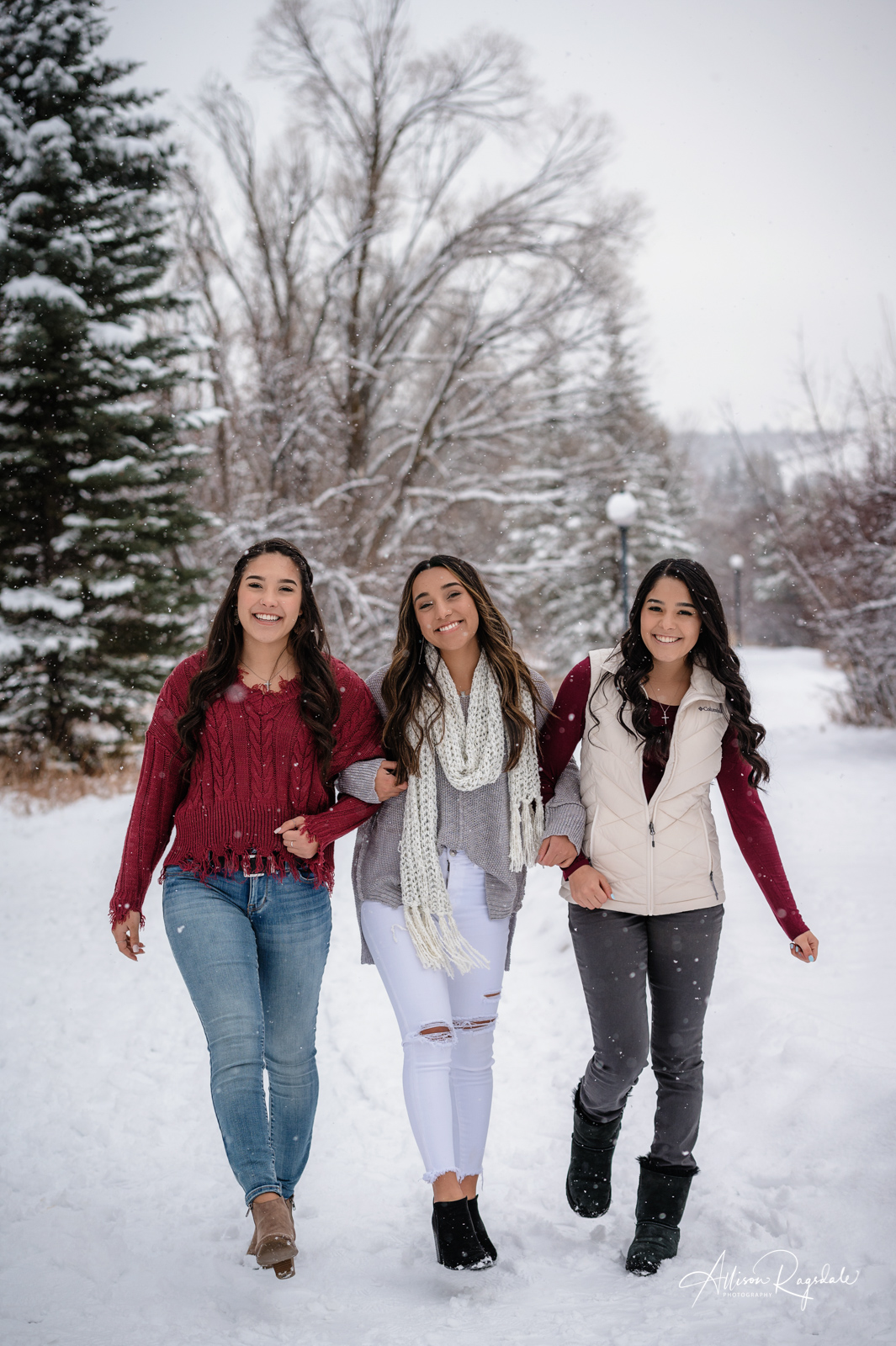 Valdez Family Winter Wonderland Portrait Session