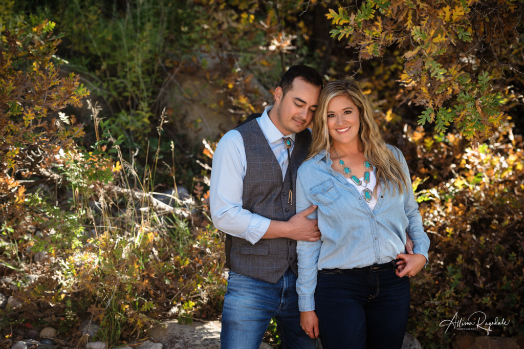 couple portrait durango co turquoise necklace