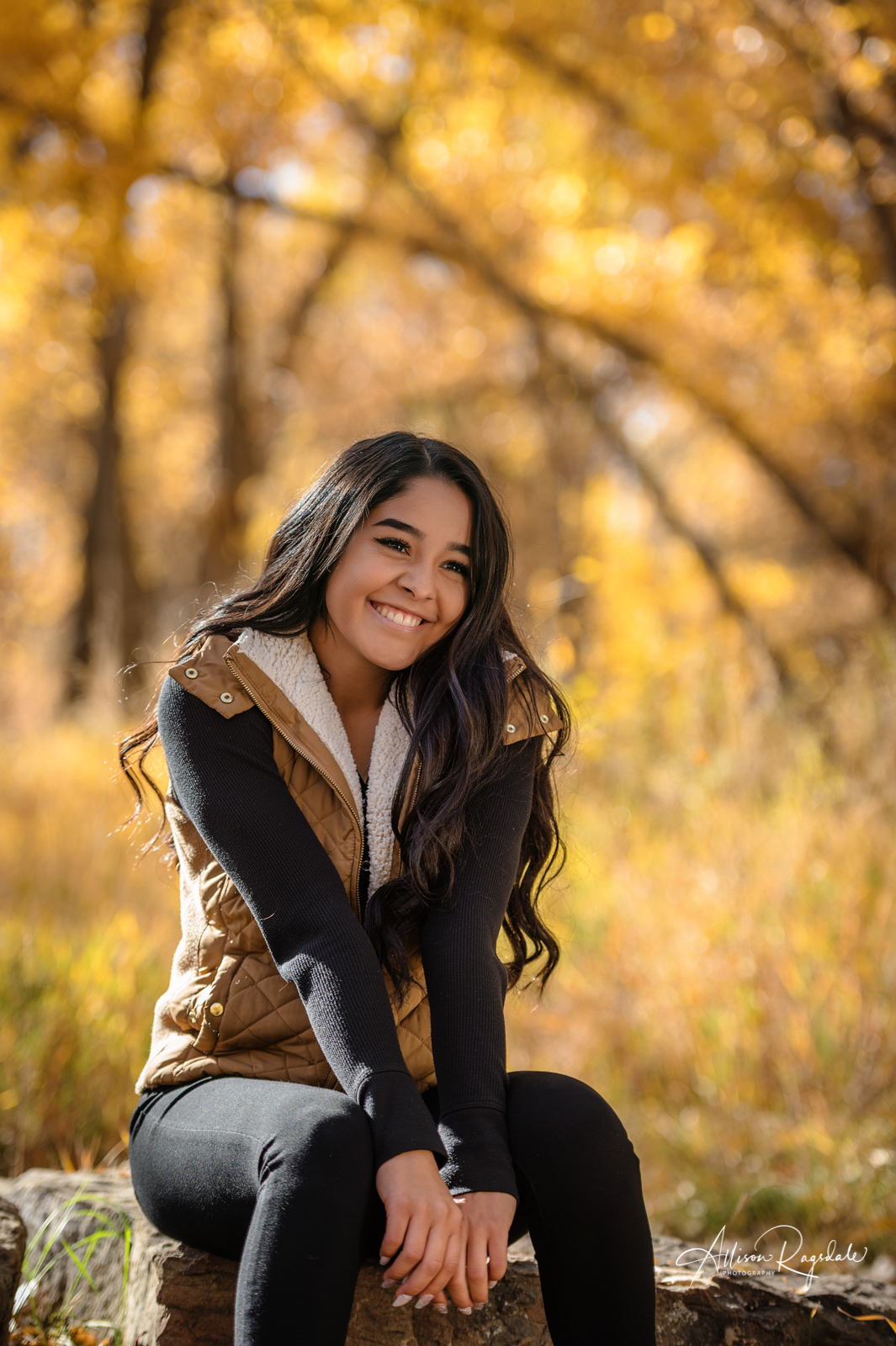 Charlize Valdez's Senior Pictures in the Fall Colors