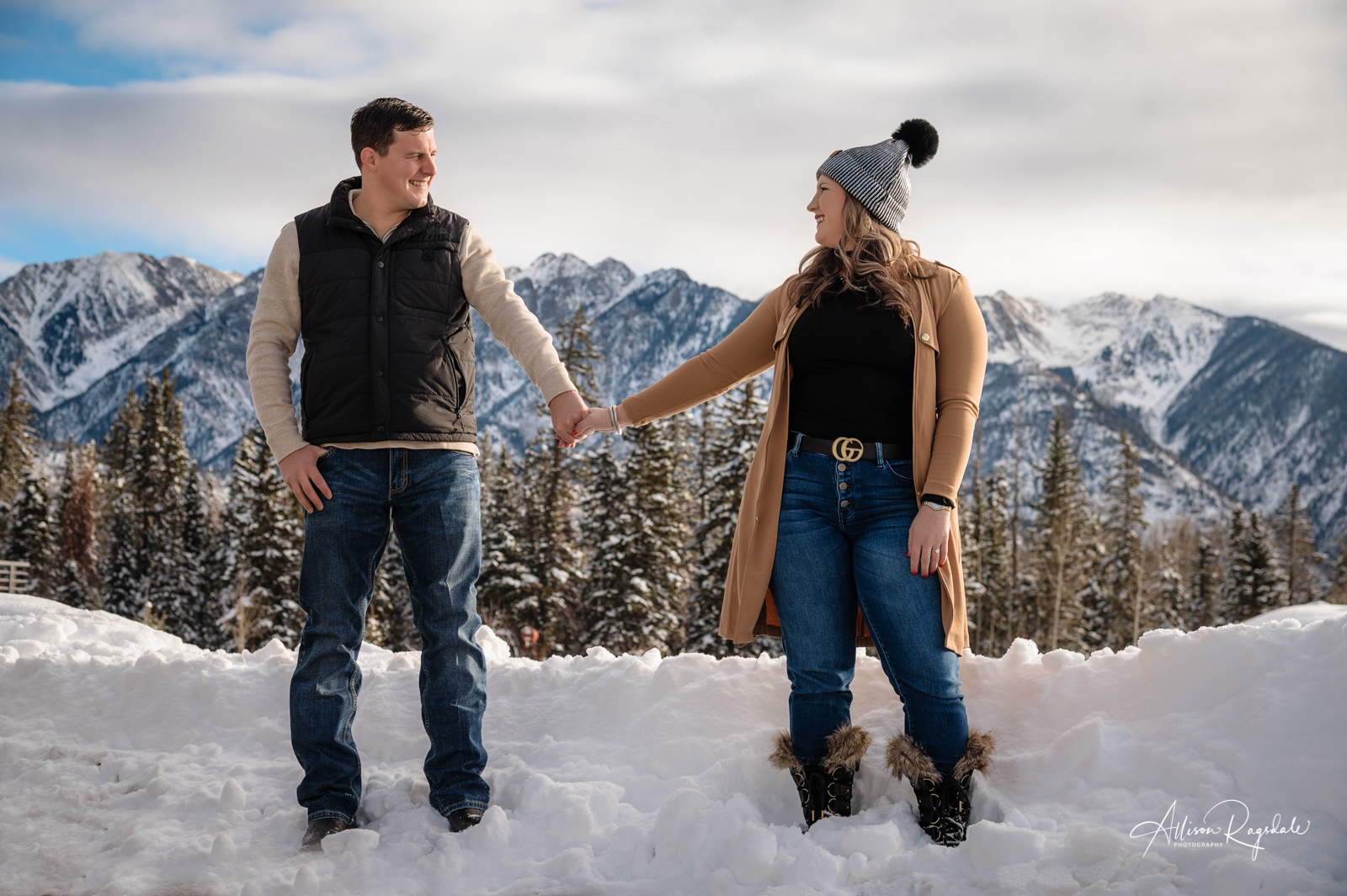 Logan & Tanner's Colorado Winter Wonderland Engagement Pictures