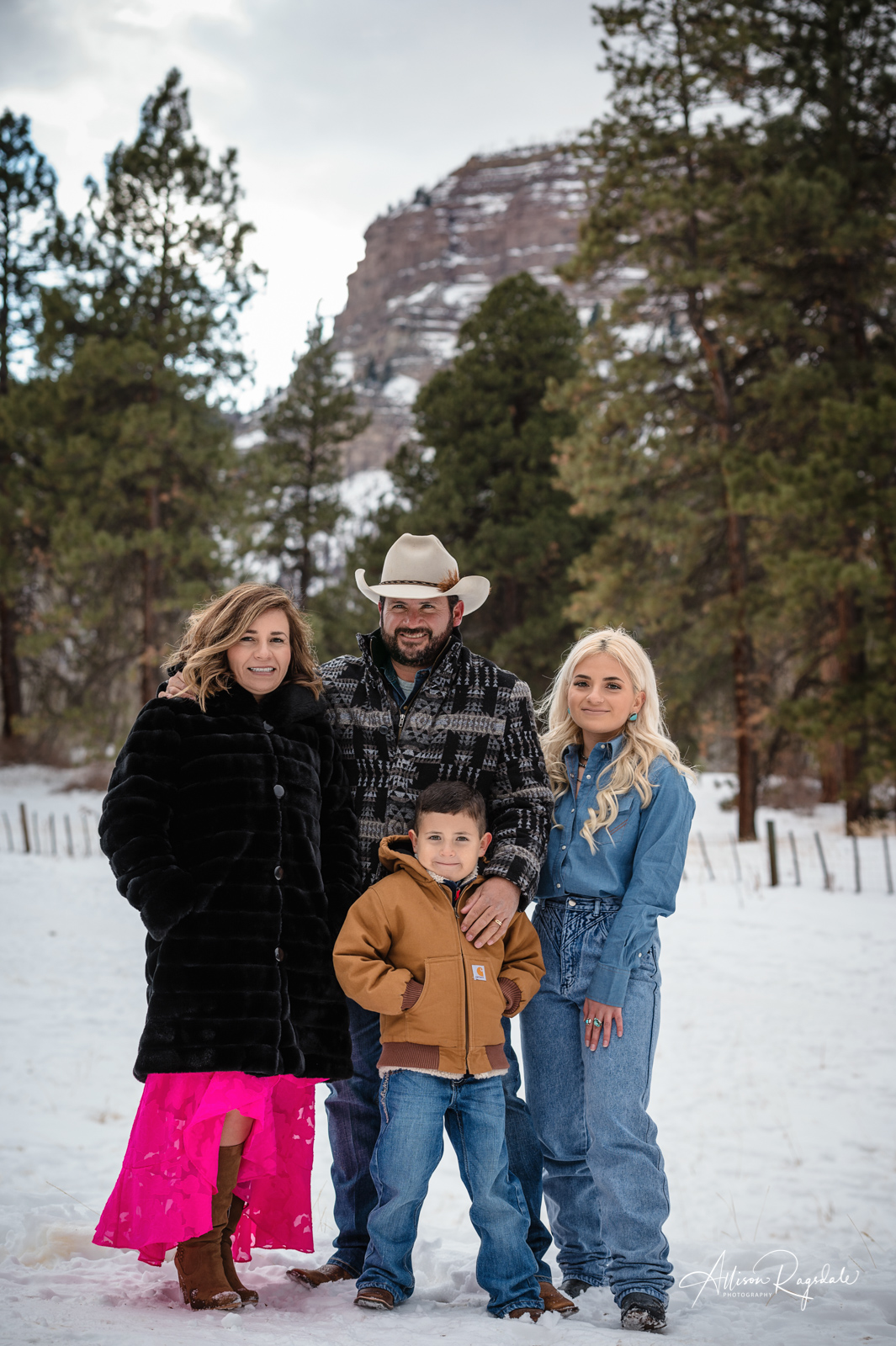 Sotelo Family Colorado Winter Forest Photoshoot