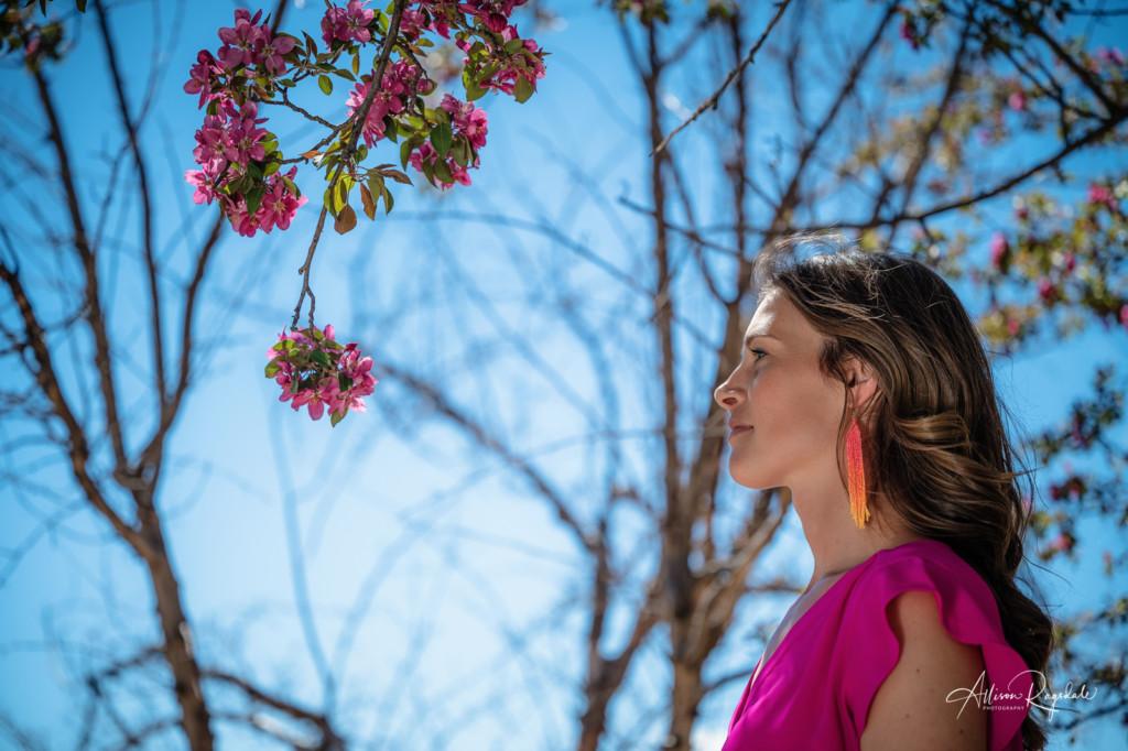 spring blossoms durango co personal brand photo maggie emerson